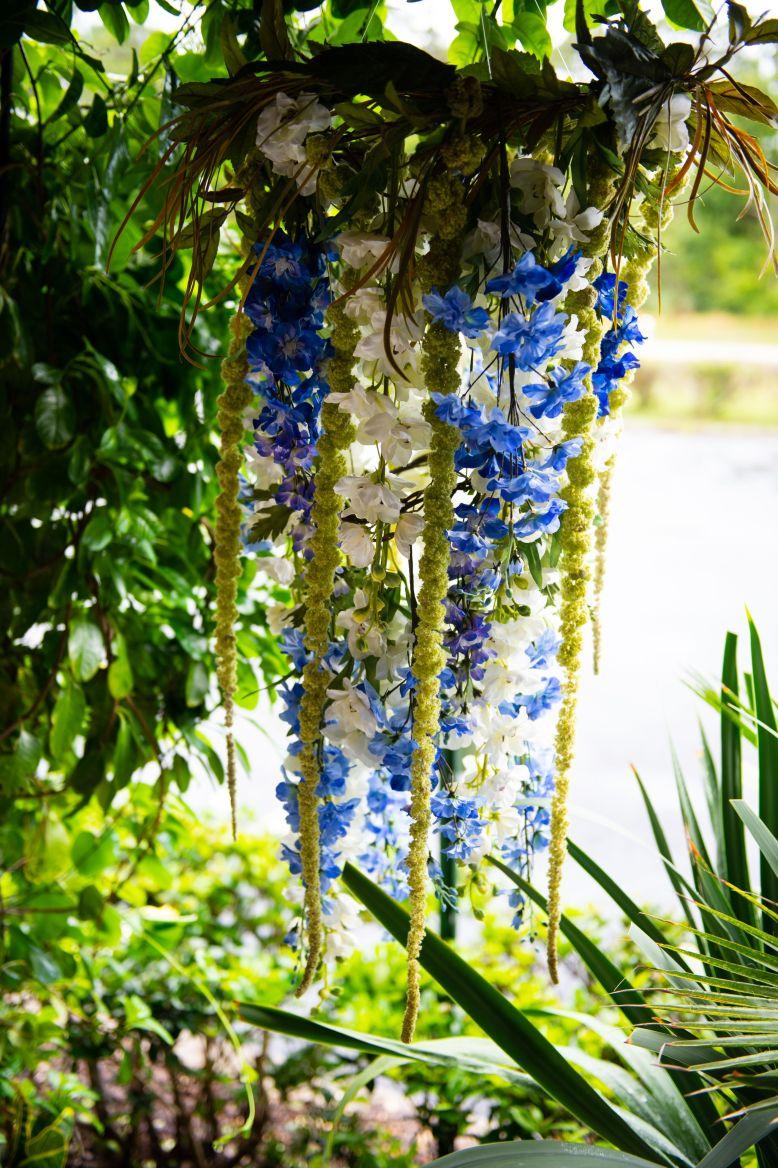 tl wedding floral chandelier